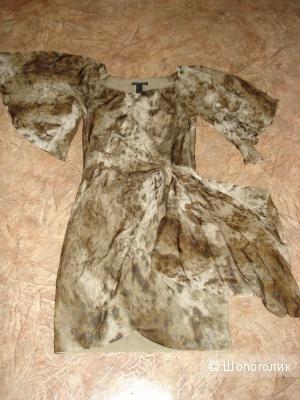 Шелковое красивое платье Mango р. 42-44