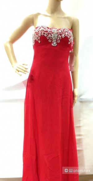 Шикарное вечернее красное платье BASIX из ЦУМа р.44 Новое