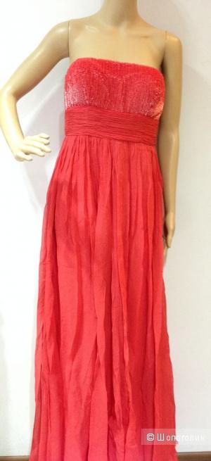 Aidan Mattox красивое красное вечернее платье от дизайнера р.44 Новое с ценником 485$