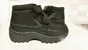 Кожаные зимние ботинки р-р 29