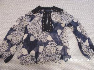 Блузка Zara 100% шелк с люрексом, размер S, новая без бирок