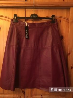 Новая кожаная бордовая юбка MAX&Co размер IT 44