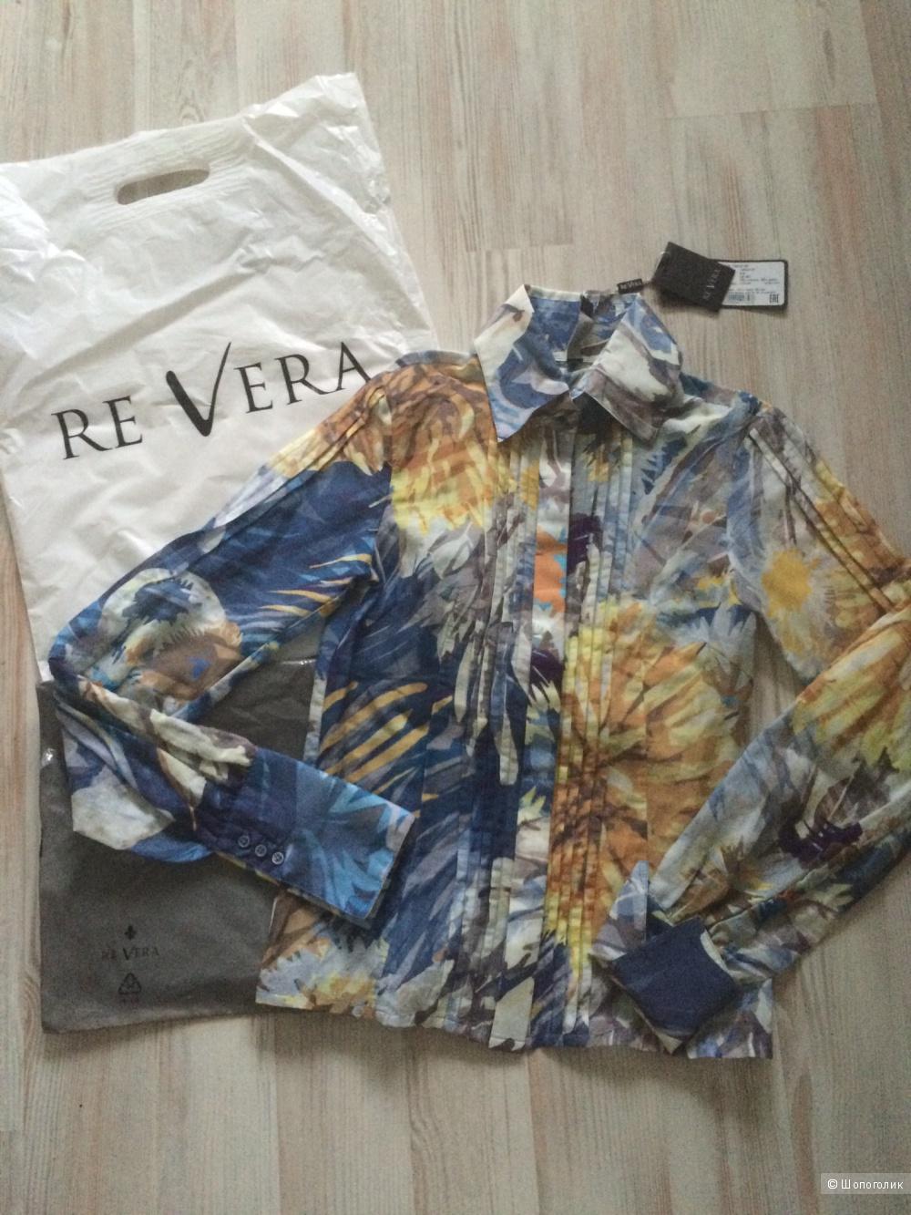 Новая итальянская Блузка Re Vera 70% хлопок 30% шелк размер xs