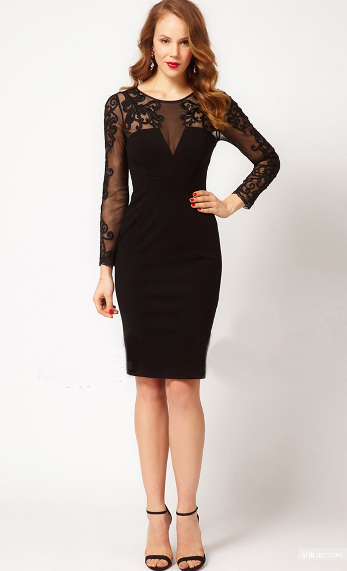 Черное платье карен милен каталог женских платьев
