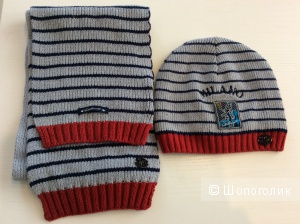 Комплект TuttiQuanti: шапка-бини и шарф для мальчика 2-4 лет