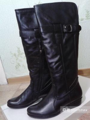 Сапоги новые кожаные BelWest БелВест 37 размер чёрные