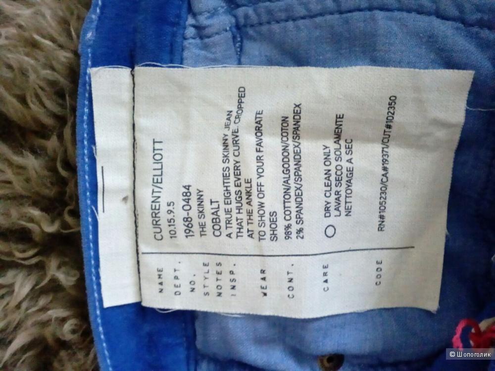 Новые бархатные джинсы CURRENT/ELLIOTT , размер 31, длина 32