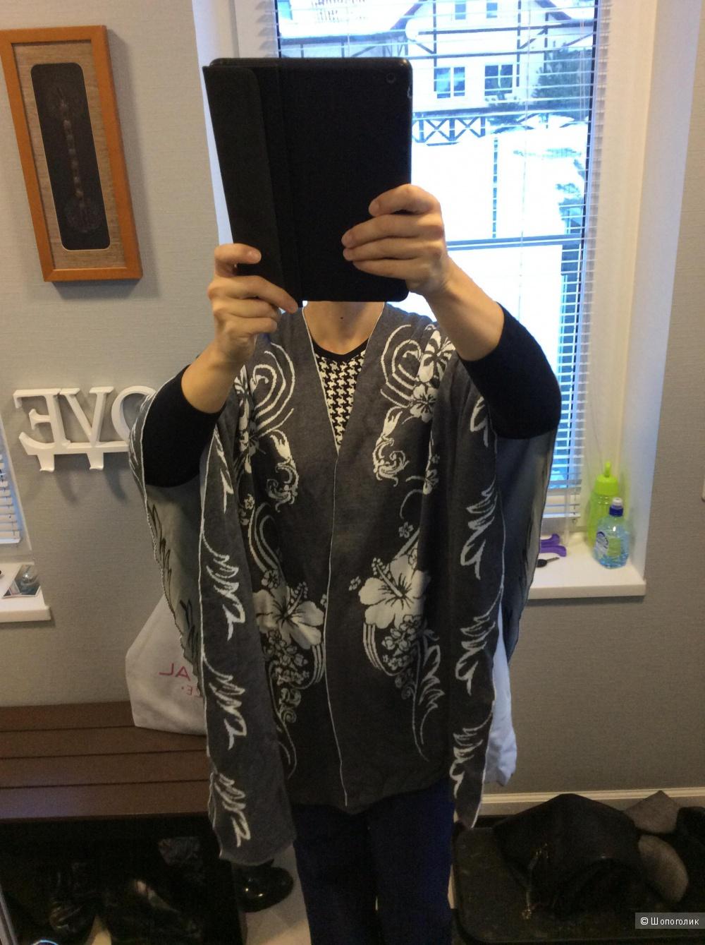 Большая двусторонняя шаль-палантин 100% шерсть