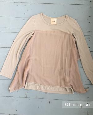 Блуза EV4 с yoox натуральный шелк