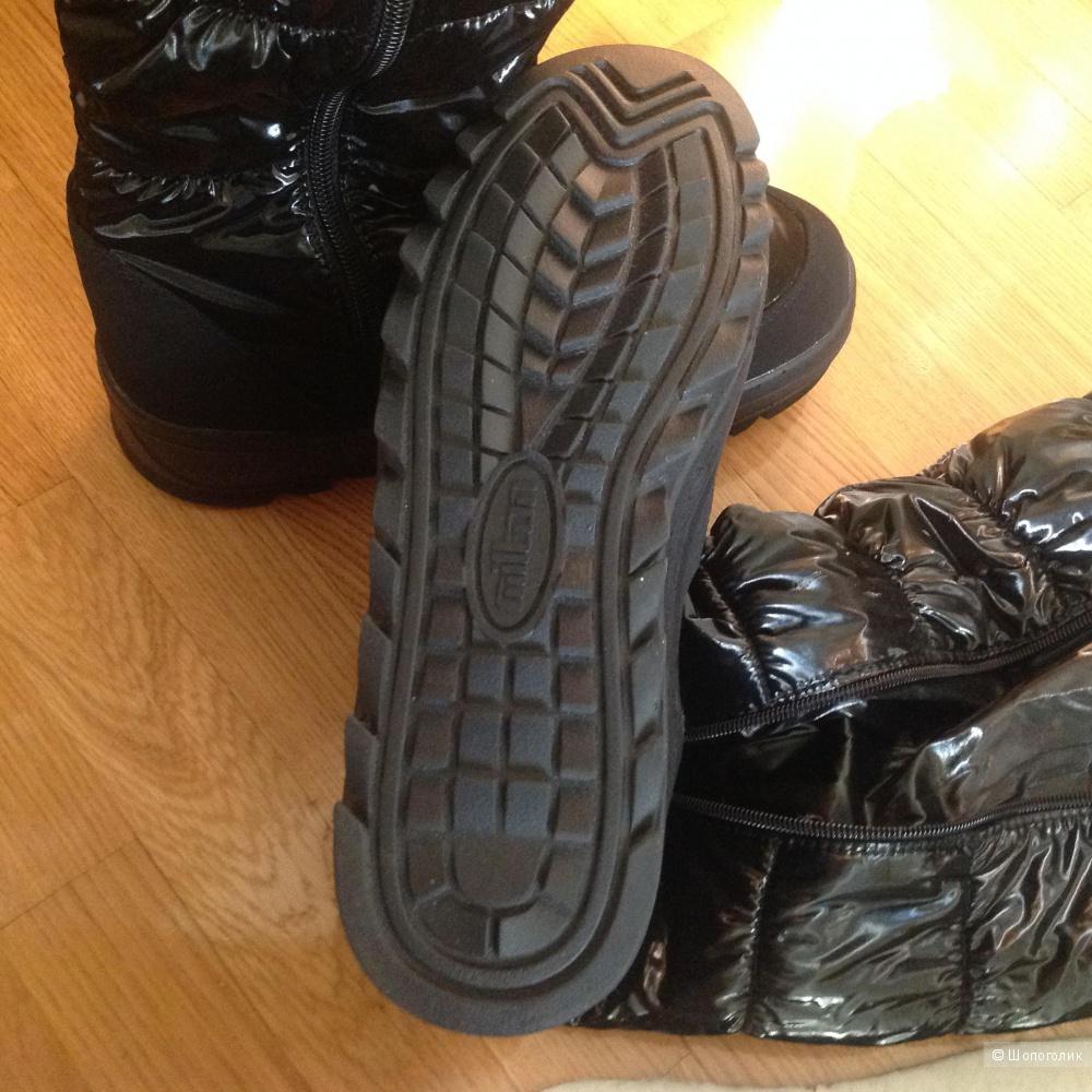 Новые чёрные сноубутсы, размер 40, фирма Milton.