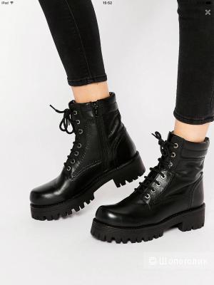 Массивные кожаные ботинки на шнуровке Park Lane