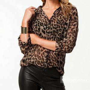 Леопардовая блузка из полиэстера
