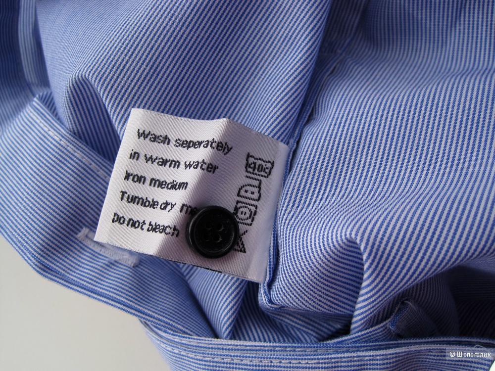 Новая голубая рубашка в мелкую полоску Unconditional London размер XS