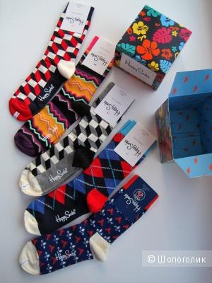 Носки Happy Socks пять пар в подарочной упаковке, размер 36-40, унисекс