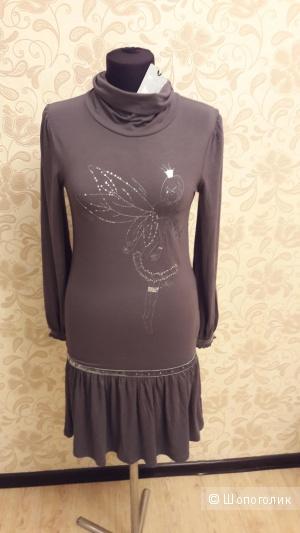 C.H.I.С: итальянское брендовое платье типа херсей со стразами и бархатом