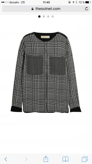 Новая Блуза натуральный шелк Michael Kors с outnet