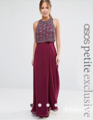 Новое шикарное вечернее макси платье Asos, размер 40