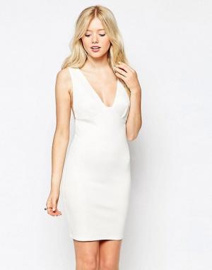 Платье с глубоким вырезом Club L Essentials. Р-р 42-44