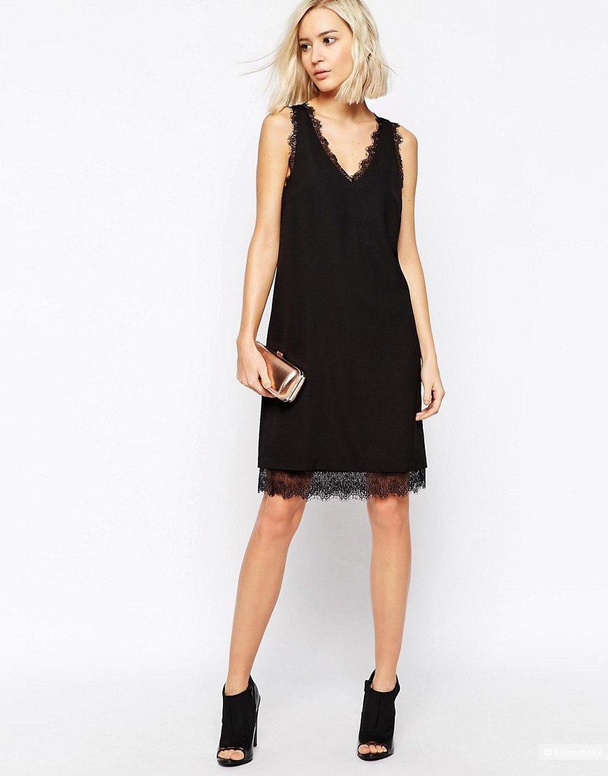 Платье черное кружевное asos