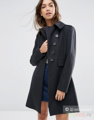 Пальто ASOS Coat with Split Skater Skirt