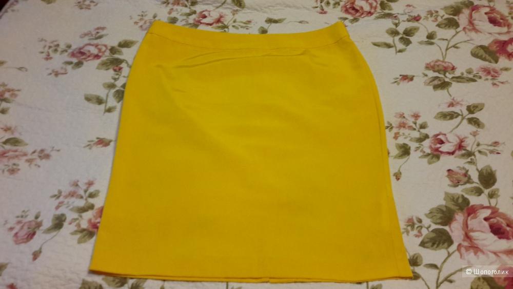 Красивая юбка Oodji размер 44/170 евро на наш 50 насыщенного жёлтого цвета б/у 1 раз