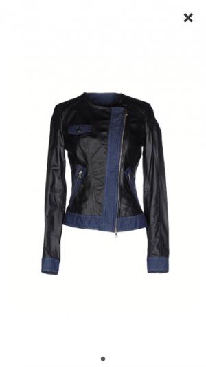 Итальянская кожаная куртка AnnaRita 42-44й размер