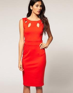 Оранжевое платье TFNC London. Р-р 42.