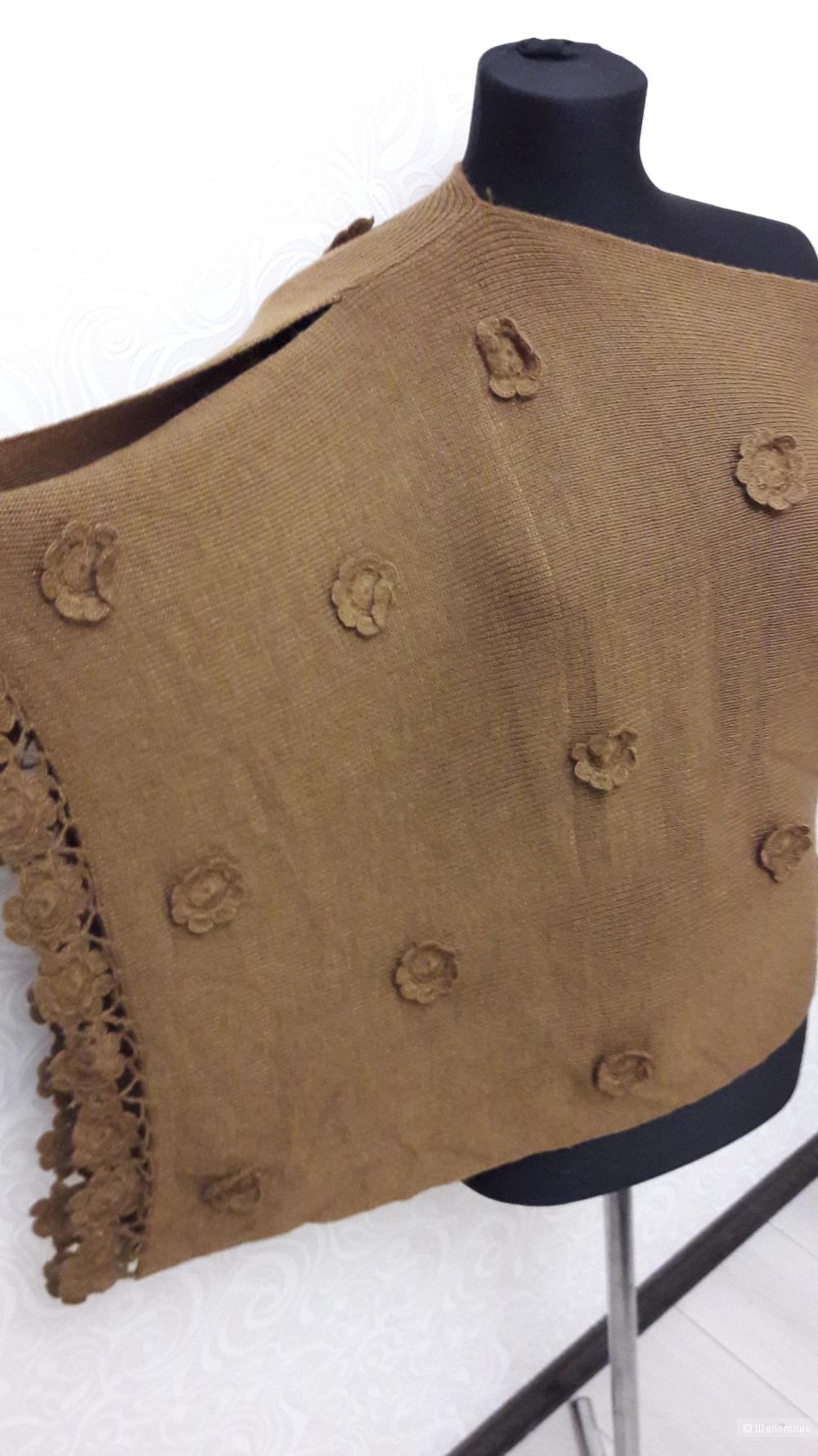 Пончо-свитер-палантин из шерсти альпаки