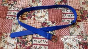 Ремень No name размер M к/з новый цвет ярко синий, красивый