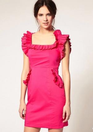 Яркое платье VILA. Размер 42.