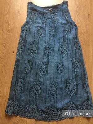 Итальянское шелковое платье с вышивкой
