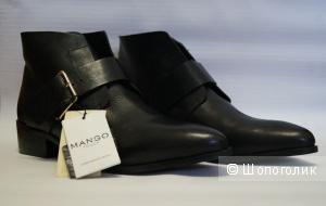 Новые кожаные полуботинки Mango р40.