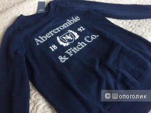 Продаю новый свитшот Abercrombie&Fitch темно-синего цвета, размер S
