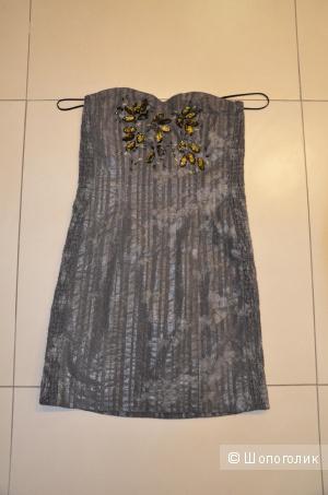 Дизайнерское платье Badgley Mischka размер XS