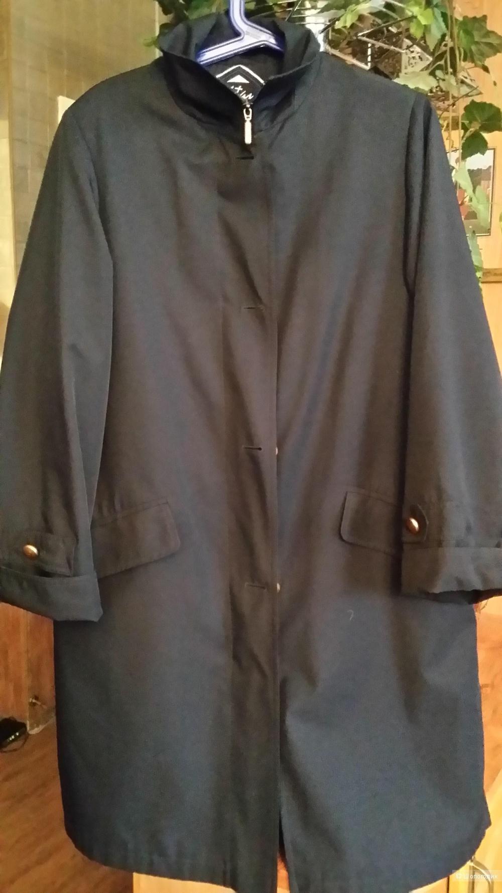 Плащ-пальто Goldix (Австрия) 46-50 размер сапфирового цвета