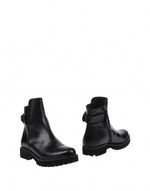 Новые кожаные испанские ботинки с yoox