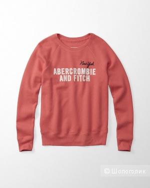 Новый женский свитшот от Abercrombie&Fitch кораллового цвета, размер S