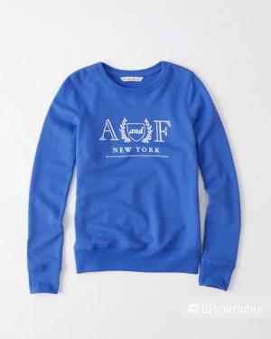 Новый женский свитшот от Abercrombie&Fitch сине-голубого цвета, размер S