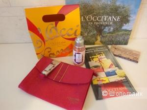 Локситан Arlesienne :крем для рук, гель для душа,розовая косметичка