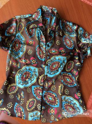 Атласная рубашка известной фирмы polo garage.