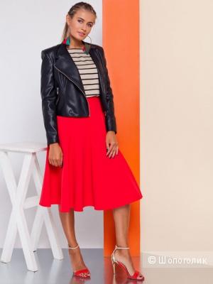 Красивая новая юбка красного цвета длина миди Grand 46 размер