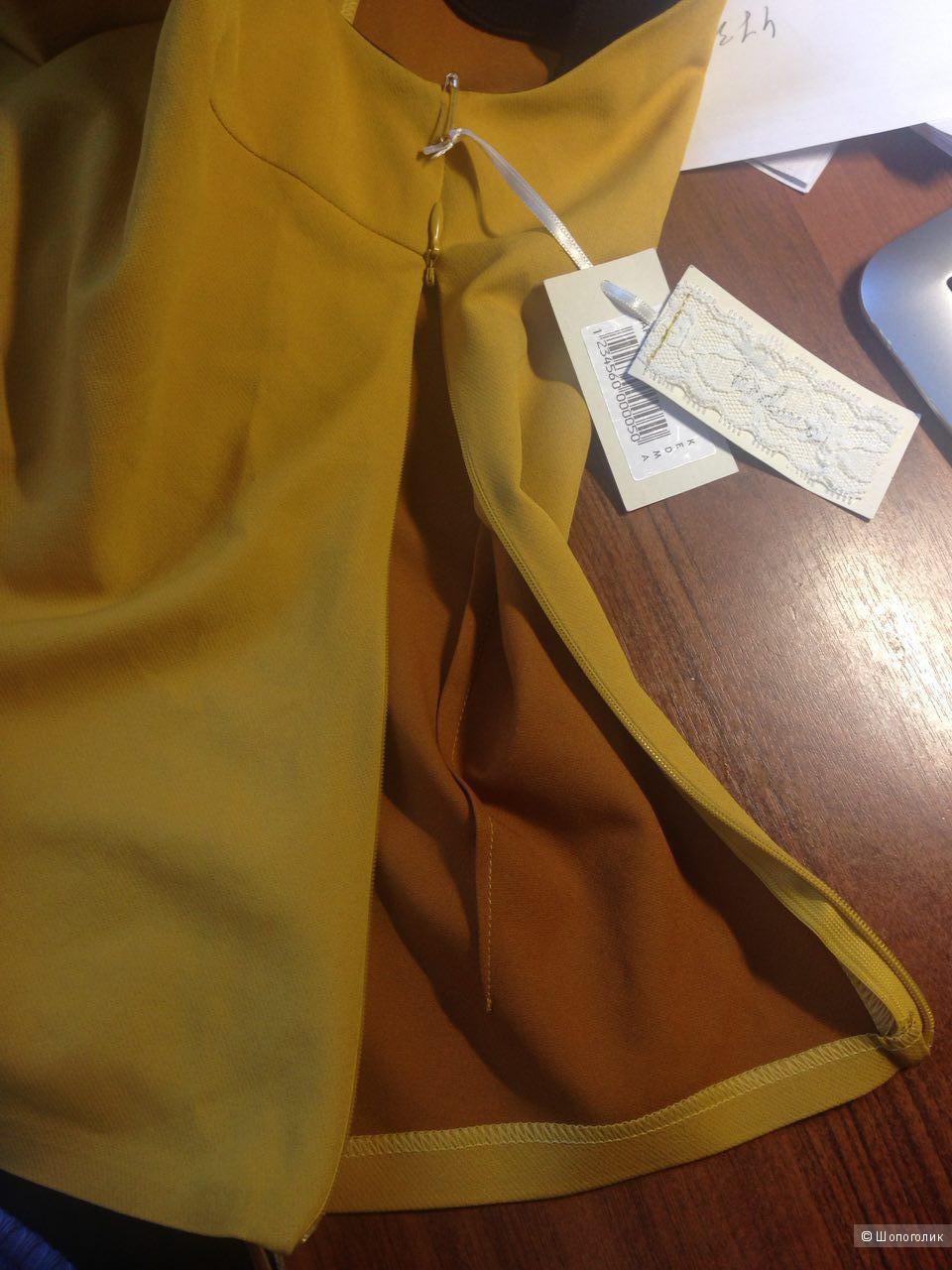 Красивая блуза с бантом на плече размер L