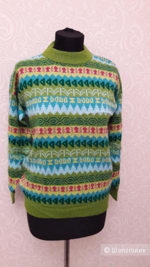 Шерстяной свитер из ламы многоцветного тона