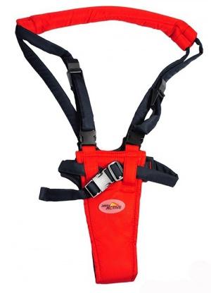 Детские вожжи-ходунки красного цвета jekky active, от 6 месяцев