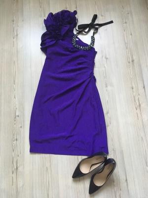 Фиолетовое платье Oasis, размер 34
