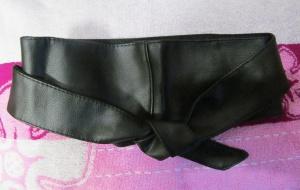 Пояс-кушак (кожа) новый для шуб, пальто, кардиганов