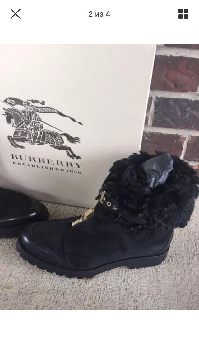 Зимние ботинки Burberry оригинал 39 размер