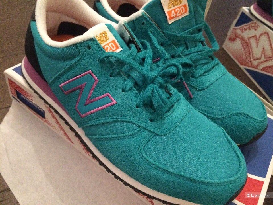 Новые кроссовки New Balance размера 40 натуральная замша