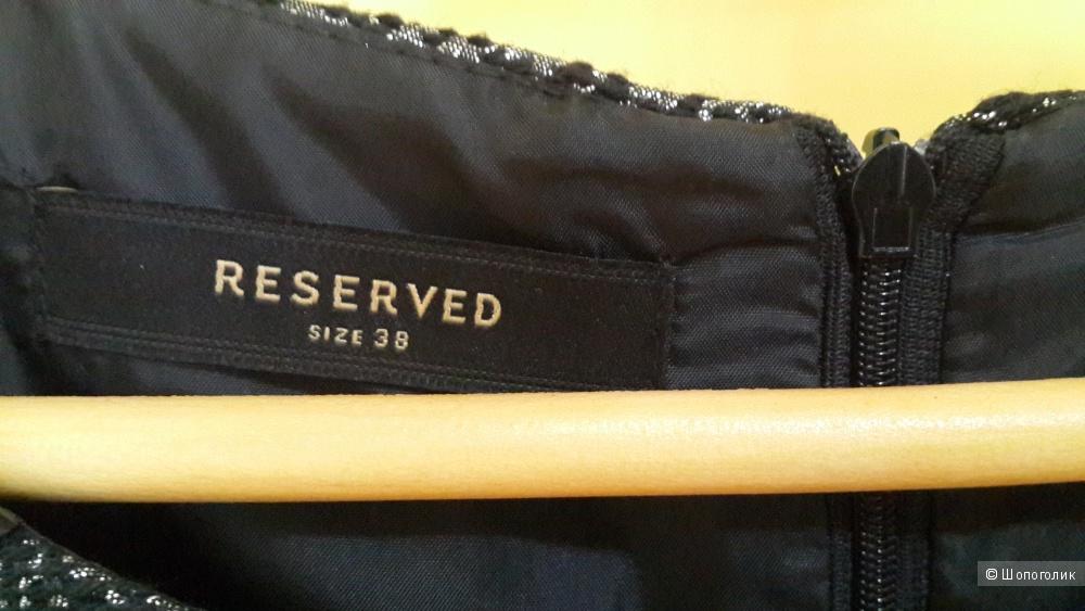 Новое красивое платье Reserved 38 евро размер черное с серебром