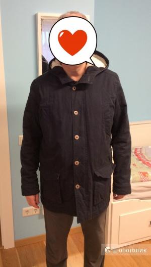 Мужская куртка-парка утеплённая р.XL (на 54)